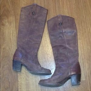 FRYE boots Women 6 brown leather riding boot style